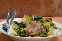 Boiled variety vegetable with pork rib Royalty Free Stock Images