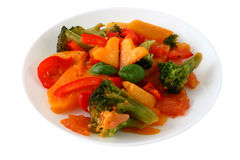 Boiled vegetables Royalty Free Stock Image