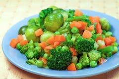 Boiled  vegetables for diet Stock Photo