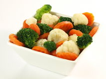 Boiled vegetables, isolated Stock Photo