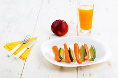 Boiled vegetables - healthy meal concept Stock Image