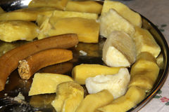 Boiled yams and plantains Haitian style Royalty Free Stock Images