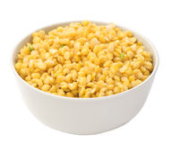 Boiled yellow peas in a bowl close-up Royalty Free Stock Images