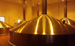 Boiler for brewing, brewery Royalty Free Stock Photo