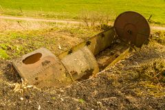 Old rusting steam engine boiler Royalty Free Stock Photo