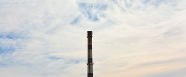 The boiler house chimney Stock Image