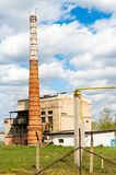 Boiler house with high stack Stock Photo