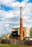 Boiler house with high stack Royalty Free Stock Images