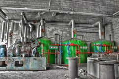 Boiler house. Old boiler house in an abandoned place Royalty Free Stock Photo