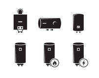 Boiler icons set Stock Images