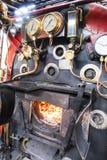Boiler op een stoomtrein stock fotografie