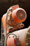 Boiler room electric motor detail Royalty Free Stock Images