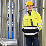 Boiler room engineer Stock Images