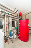 Boiler room equipment with deep pumps Stock Image