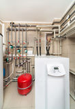 Boiler room equipment with deep pumps Royalty Free Stock Photography