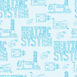 Boiler room equipment, engineering systems. Sketch. Vector file. Stock Photo