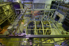 Boiler room in thermal power plant. Royalty Free Stock Images