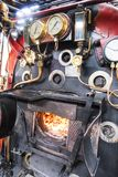 Boiler on a steam train Stock Photography