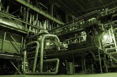 Boilers, ladders en pijpen Stock Foto