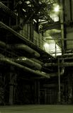 Boilers, ladders and pipes. On power plant Royalty Free Stock Photos