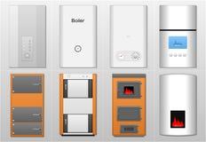 Boilers, verwarmers Royalty-vrije Stock Afbeeldingen