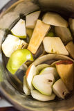 Boiling apples and pears to extract pectines Royalty Free Stock Photos