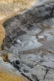 Mud bubbling and boiling at Hverir and Namaskard geothermal area, Iceland