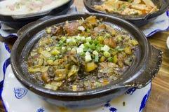 Boiling chinese sauerkraut soy sauce pork Royalty Free Stock Photo