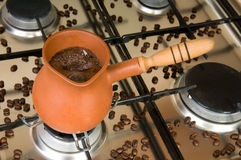 Boiling coffee Stock Photos