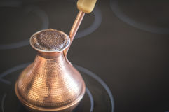 Boiling coffee foam Royalty Free Stock Images