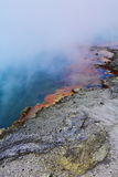 Boiling crater Stock Photography