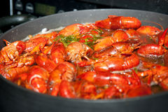 Boiling crawfish Royalty Free Stock Photo