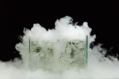 Boiling dry ice Stock Photo