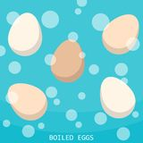 Boiling eggs hot water. N Stock Photography