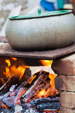 Boiling on the fire Royalty Free Stock Image