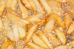 Boiling French Fries Stock Image