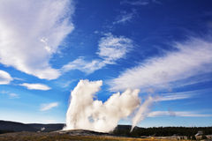 Boiling geothermal geyser Stock Photography