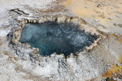 Boiling Hot Mineral Spring. Yellowstone National Park Wyoming Royalty Free Stock Photography