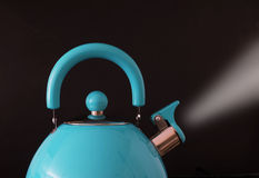 Boiling kettle steaming Royalty Free Stock Photography