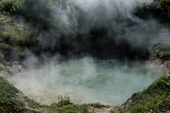 Boiling lake. In valley of geysers, Kamchatka Royalty Free Stock Photo