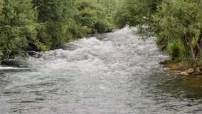 Boiling mountain river. Burning mountain river in Turkey stock video footage