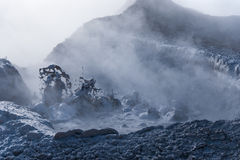 Boiling mud of fumaroles Royalty Free Stock Photography