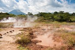 Boiling mud holes - San Jacinto Royalty Free Stock Images