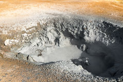 Boiling mud in Iceland Stock Image