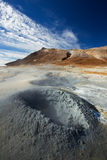 Boiling Mud in Namafjall Geothermal Area, Hverir, Iceland Stock Photo