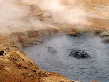 Boiling mud pool Stock Images