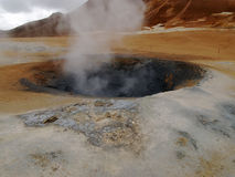 Boiling mud pool Royalty Free Stock Images