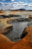 Boiling Mud Pool, Iceland Stock Photo