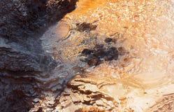 Boiling Mud Pool in Wai-O-Tapu Geothermal Wonderland, Rotorua, New Zealand. Close-up.  stock photos
