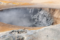 Boiling mud pools Royalty Free Stock Photography